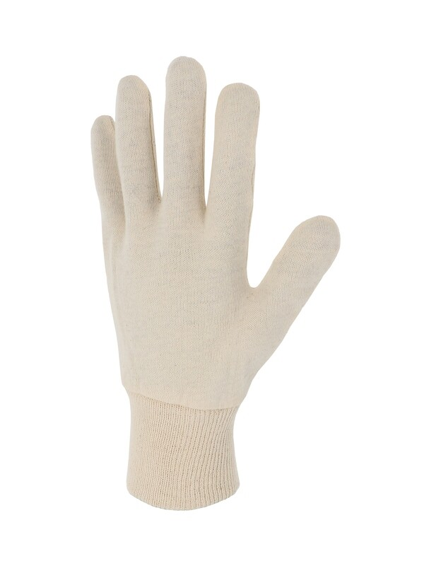 Gant coton interlock écru. Version lourde. . Ambidextre.