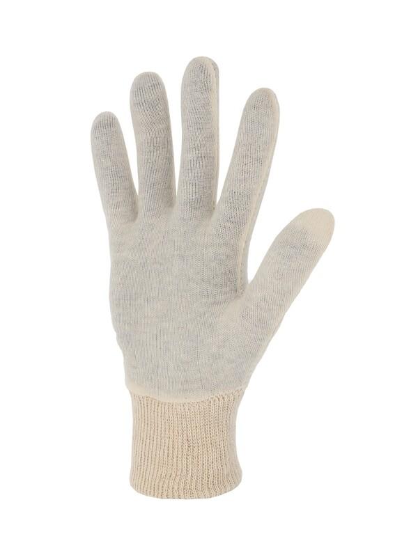 Gant coton interlock écru. Version légère.  Ambidextre.