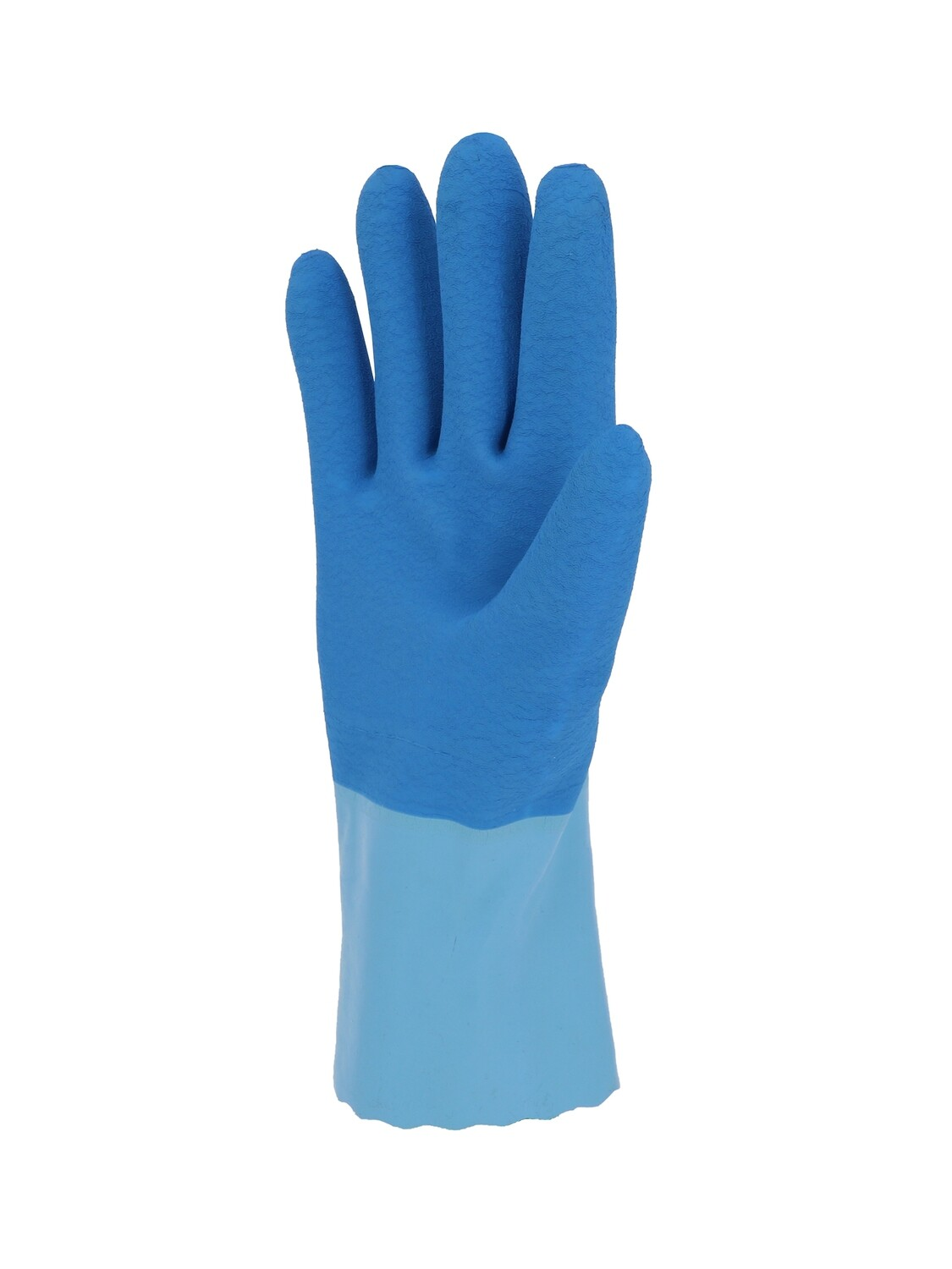 AKLPT. Type B. Gant latex.  300 mm. Support coton cousu. (10 paires)