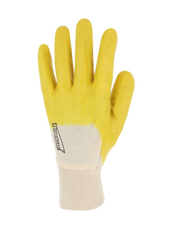 Gant nitrile (3/4). Enduction ultra-legere. Poignet tricot. (10 paires)