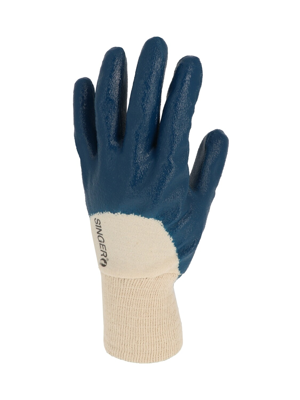 Gant nitrile (3/4). Enduction legere. Poignet tricot. (10 paires)