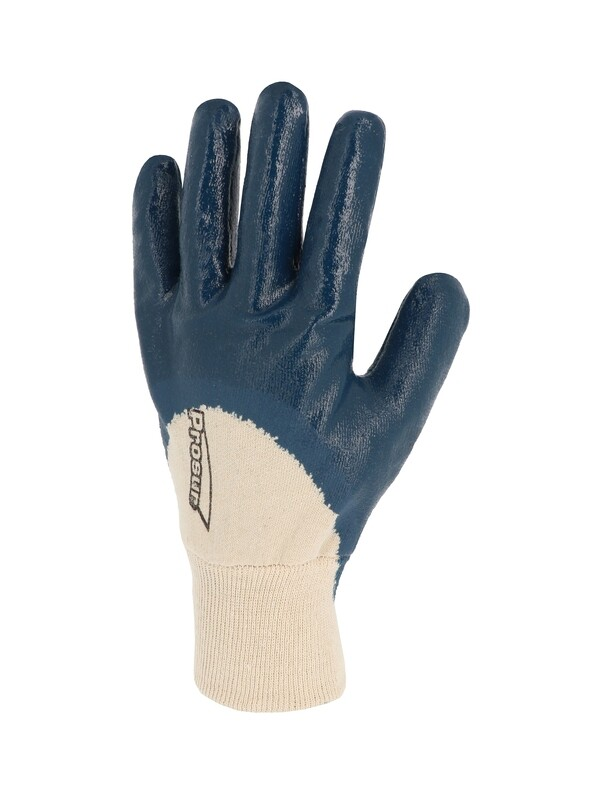 Gant nitrile (3/4). Enduction lourde. Poignet tricot. (10 paires)