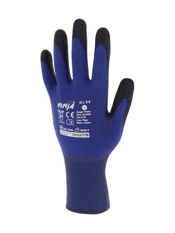 NINJA LITE. Enduit PU. Support polyamide. Jauge 18. (10 paires)