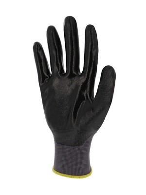 Gant nitrile. Dos aere. Support polyamide. Jauge 13.  (10 paires)