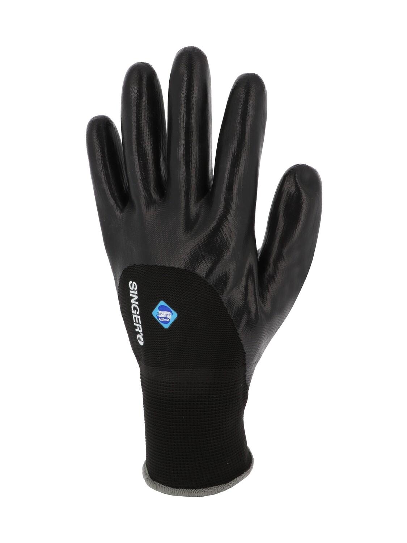 Gant nitrile 3/4 enduit. Support polyester. Jauge 15. (10 paires)
