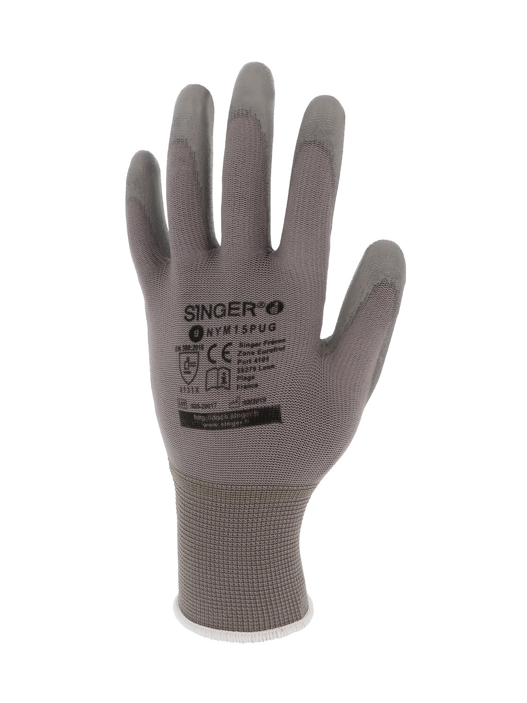 Gant polyurethane (PU). Support polyamide. Jauge 15. (10 paires)