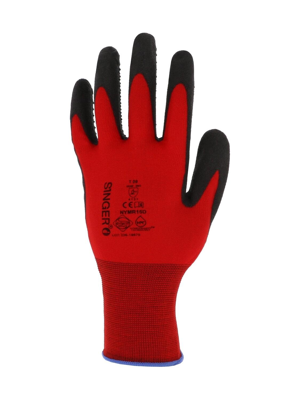 Gant PVC-C.F.T. Support polyamide. Picots paume. Jauge 15
