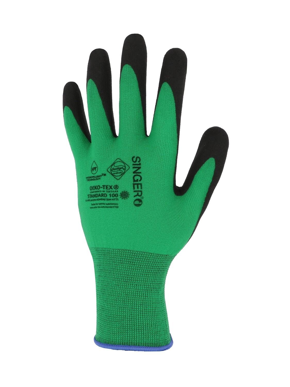 Gant PVC C.F.T. Support polyamide sans couture. Jauge 15.