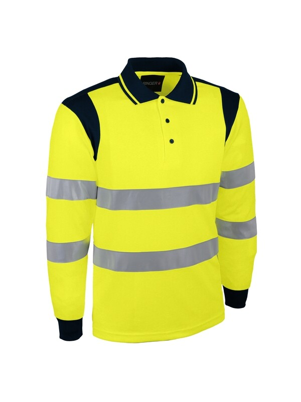Polo 100% polyester bird-eye. 150 g/m2.