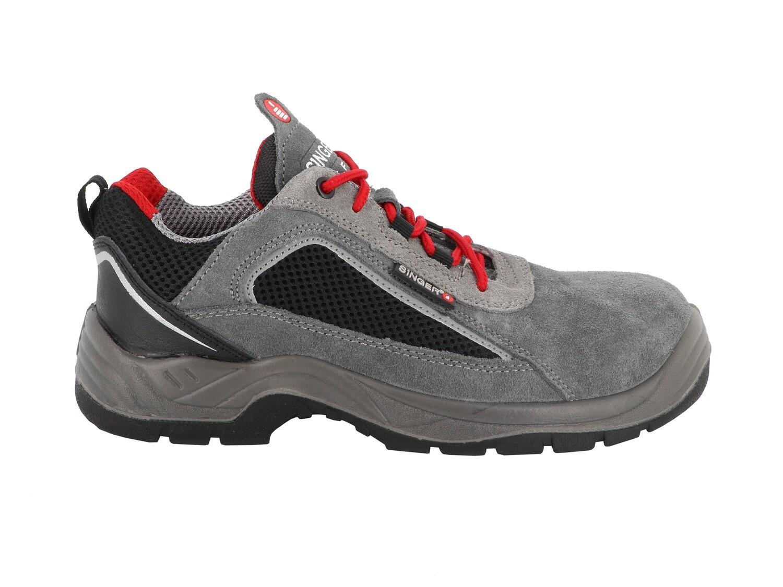 S1P SRC. Chaussures basses cuir croute velours