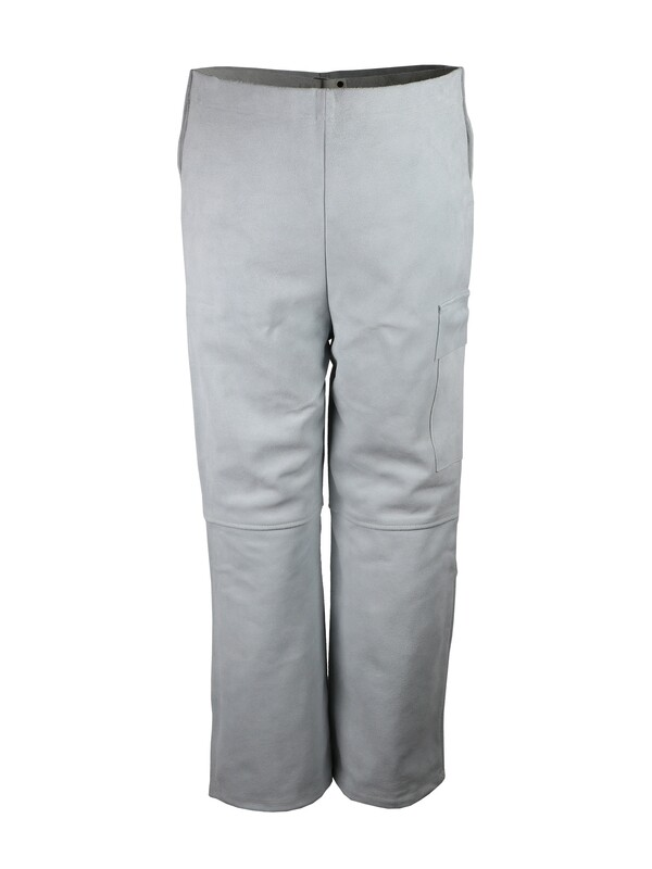 Pantalon pour soudeurs. Cuir croûte de bovin.