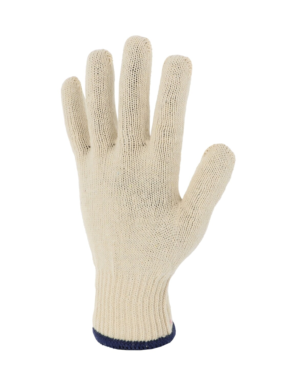 Gant polyester/coton. Poignet elastique. Jauge 10. (10 paires)
