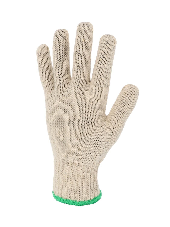 Gant polyester/coton.  Poignet elastique. Jauge 7.