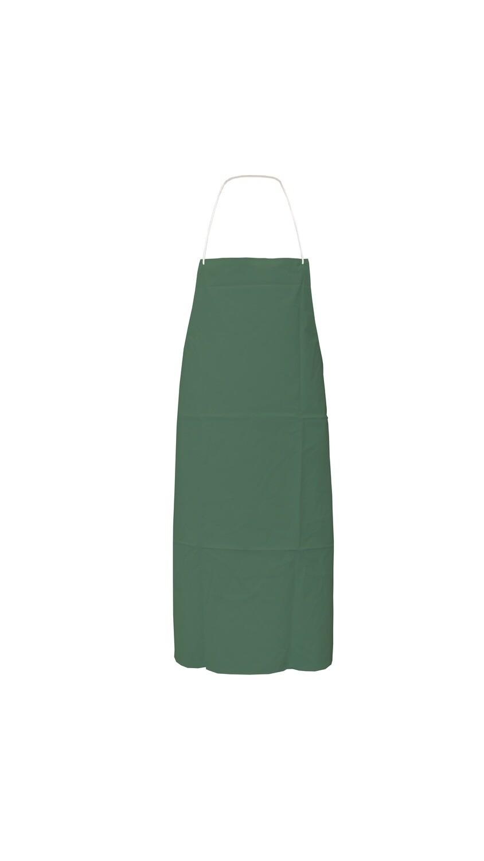 Tablier PVC/polyester/PVC. Coloris vert. 100 x 70 cm.