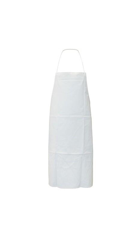 Tablier P.V.C/polyester/P.V.C. Coloris blanc. 100 x 70 cm. (Paquet de 20)