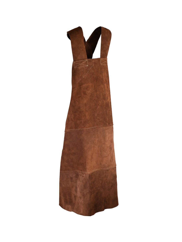 Tablier cuir 90 x 70 cm en cuir croûte de bovin supérieur