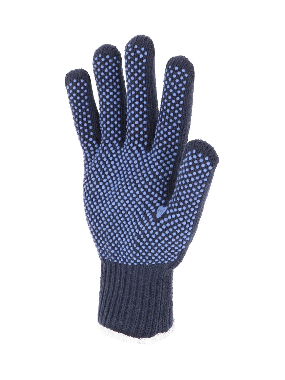 Gant polyester/coton. Jauge 7. Picots PVC. Fibres recyclées.