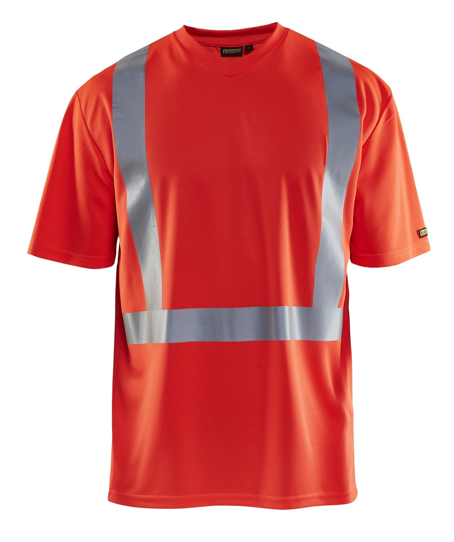 T-Shirt haute visibilité col V anti-UV anti-odeur