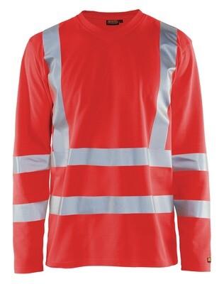 T-Shirt manches longues haute visibilité col V anti-UV