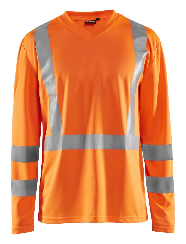 T-Shirt manches longues haute visibilité col V anti-UV anti-odeur