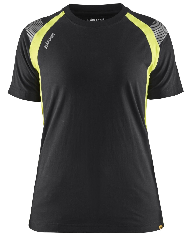 T-shirt détails fluo femme