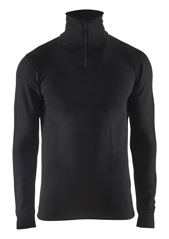 Haut de sous-vêtements col zippé XWARM