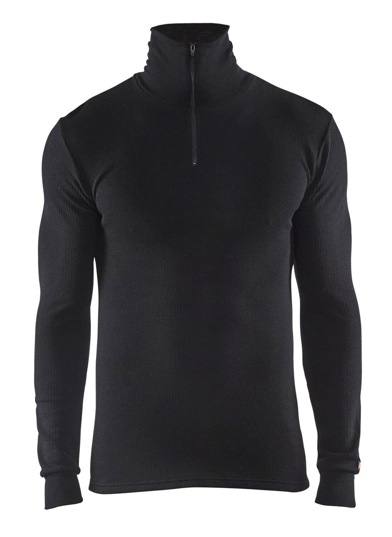 Haut de sous-vêtements col zippé WARM