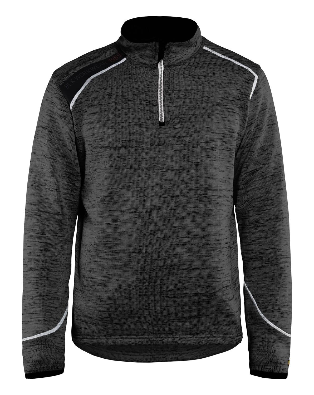 Sweat tricoté col zippé