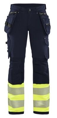 Pantalon haute-visibilité stretch 4D femme