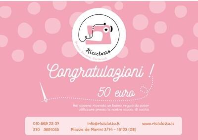 Gift Card del valore di 50 €