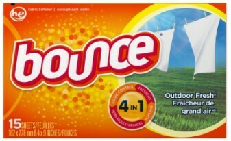 Bounce dryer sheets 15ct