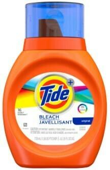Tide w/bleach 25oz liquid