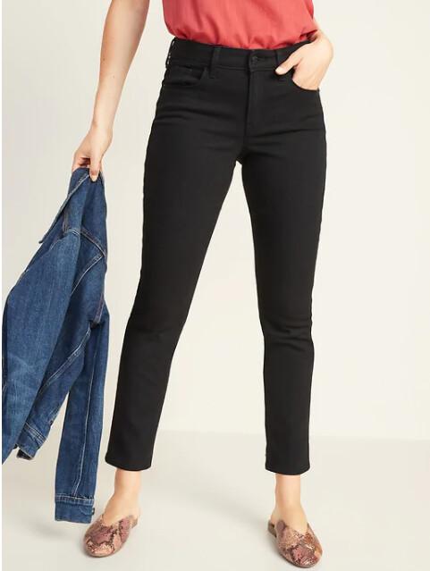 Jeans Negro rectos de mujer. Old navy, talla 8
