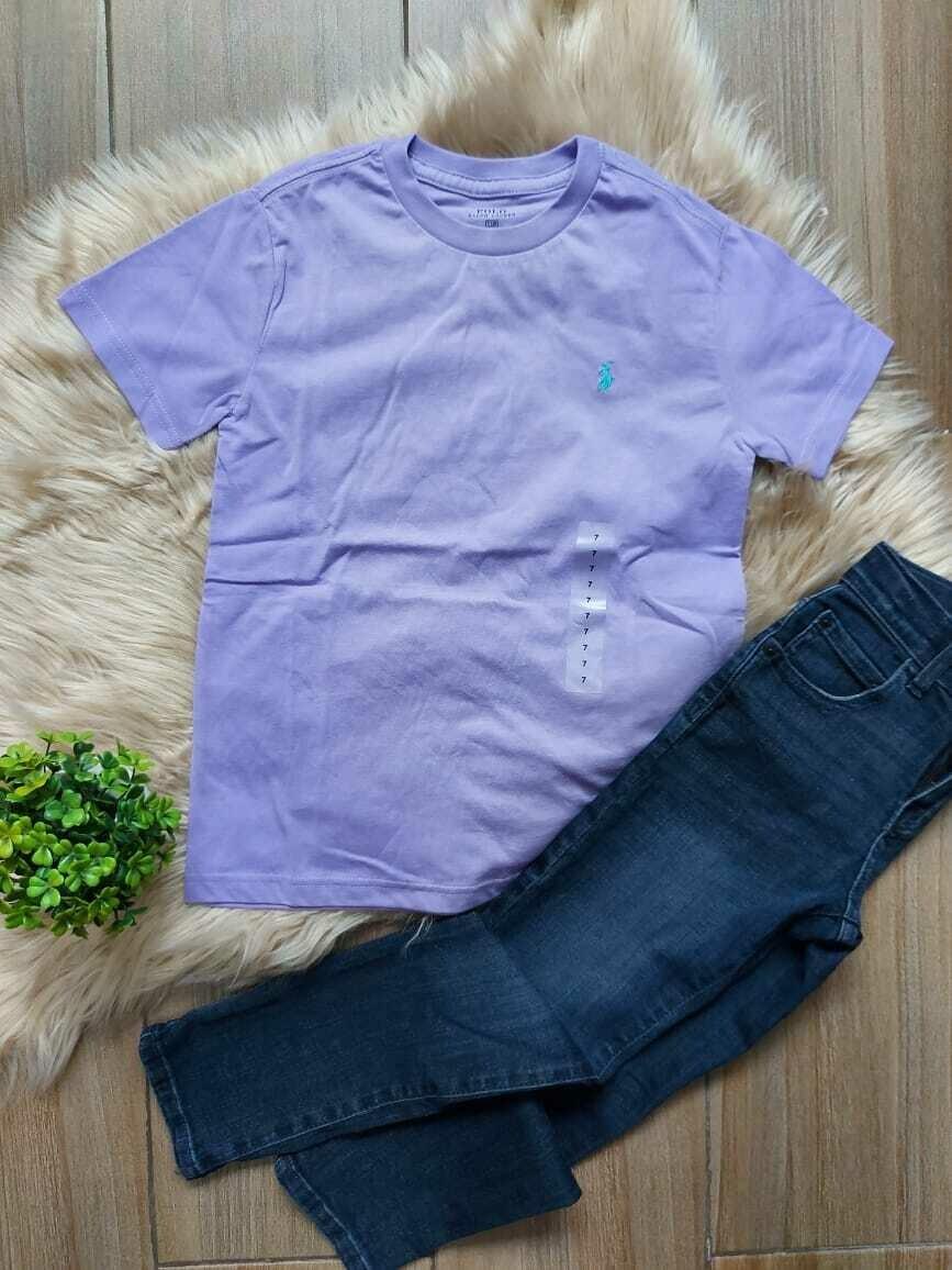 Camiseta lila polo, Ralph Lauren, 7 años