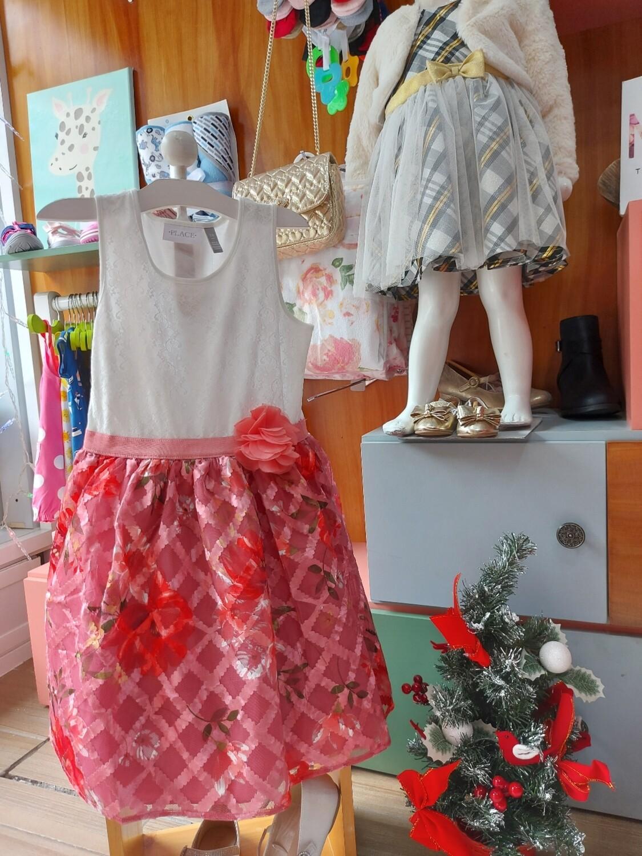Vestido Childrens Place flores, (7/8 años)