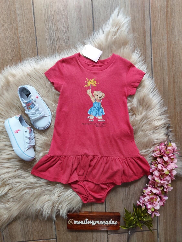 Vestido + calzoncito, color vino, 24 meses