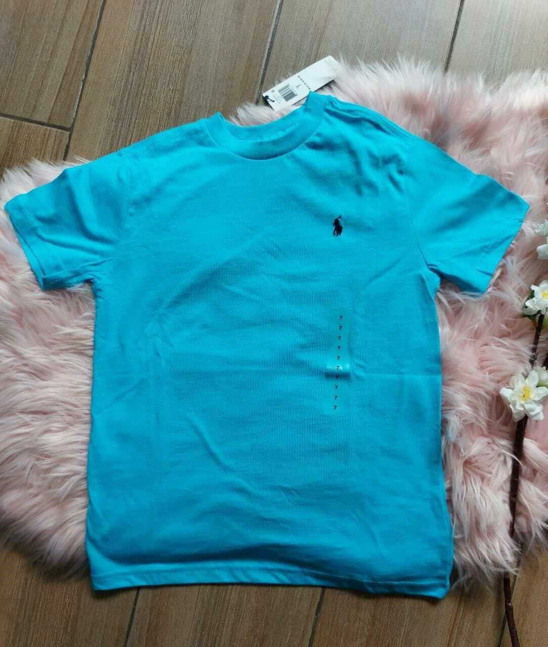 Camiseta turquesa, 7 años