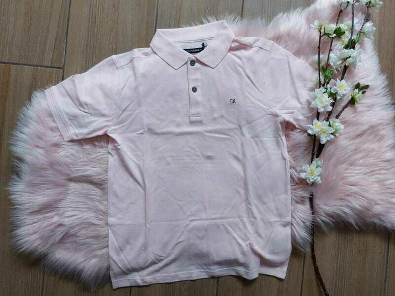 Camiseta Polo rosada, Talla M (10/12 años)
