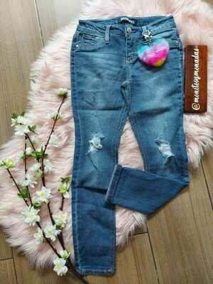Jeans BlueSpice, con llavero de corazón , 8 y 10 años