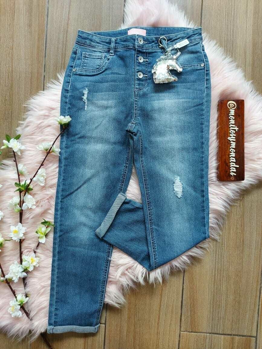 Jeans Squeeze, con llavero de unicornio de lentejuelas, ajuste interno, talla 12 años