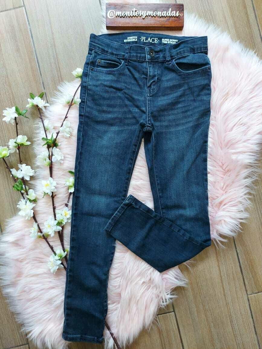 Jeans azul oscuro,  con ajuste interno,  Children's Place,  8 años