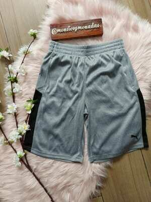 Pantaloneta gris con negro, 10/12 años,