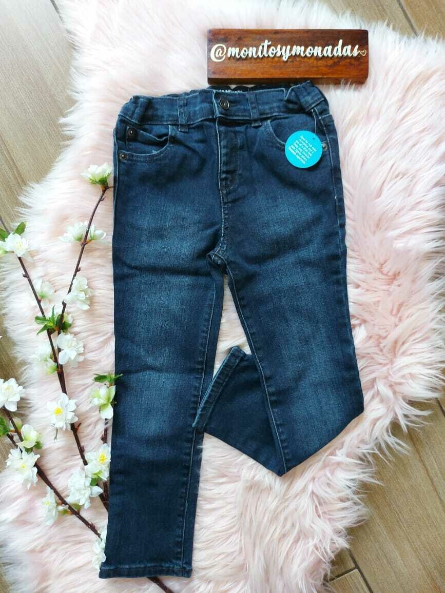 Jeans azul oscuro, con ajuste interno,  Children's Place,  5 años