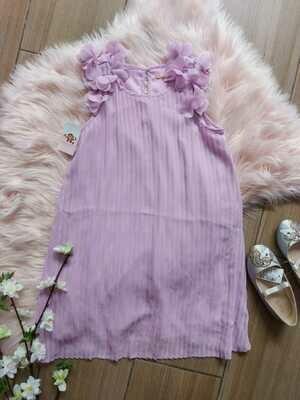 Vestido lila, 6 años