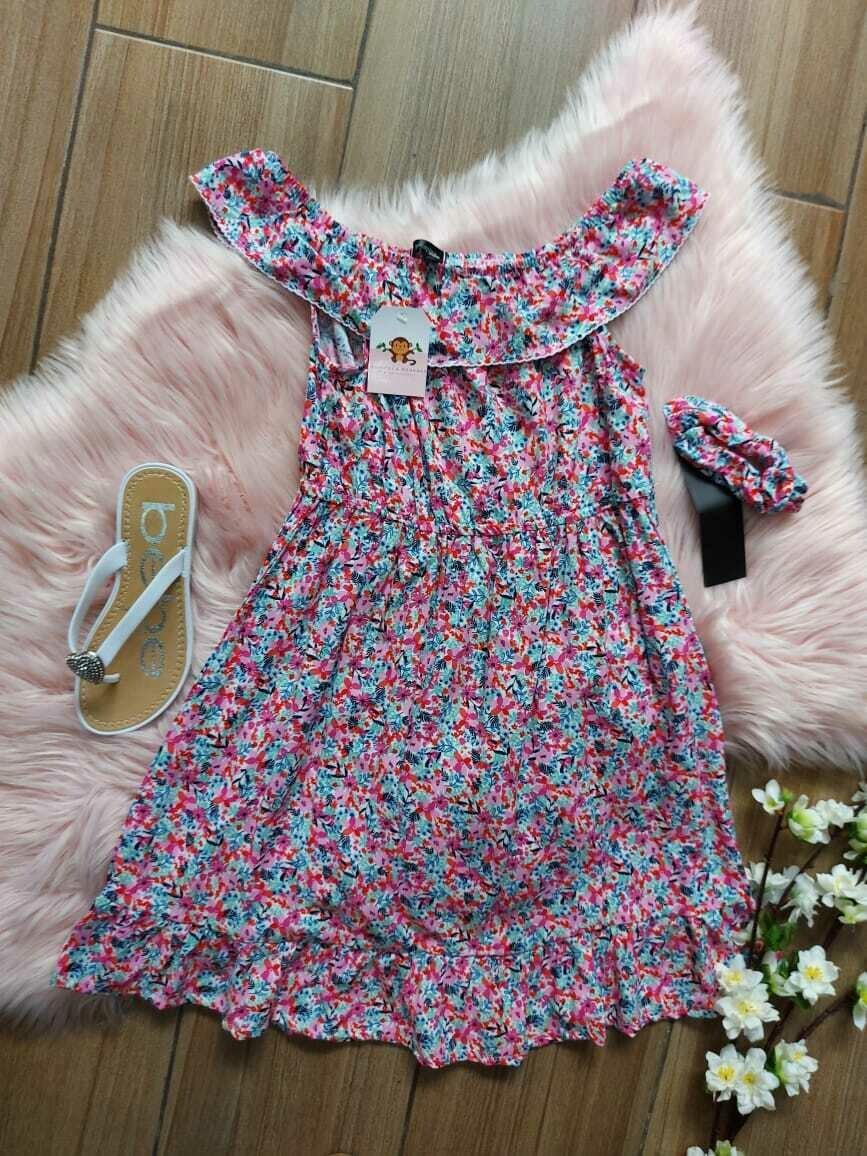 Vestido de hombros floreado, Picapino, 6 años