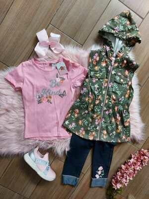 Set blusa + leggins + chaleco, Little Lass, 6 años