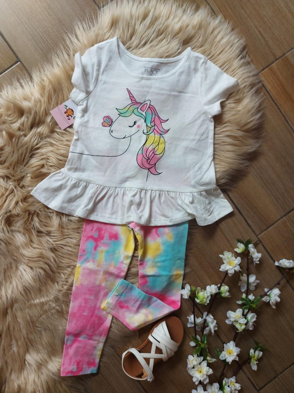 Set blusa unicornio y leggins, 12 meses