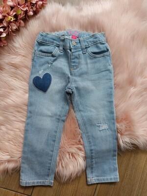 Jeans corazon con ajuste interno, 3 años
