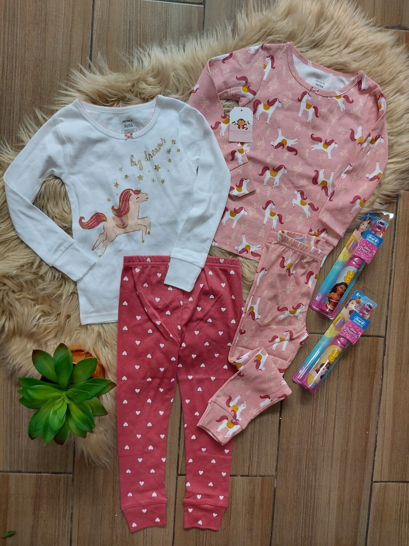 Set 2 pijamas Unicornio, Carters, 2 años