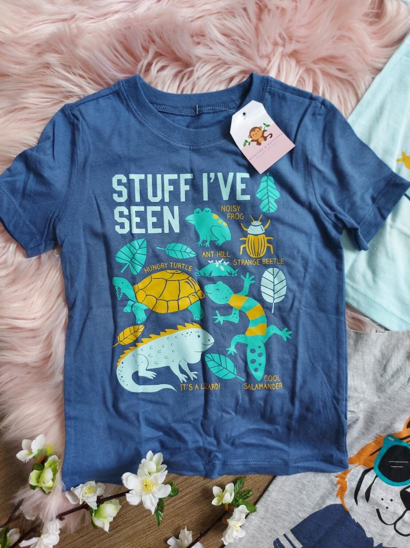 Camiseta azules insectos, 3 años
